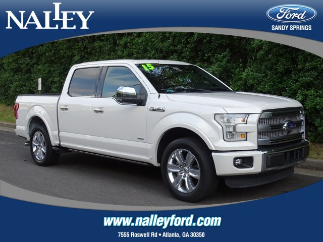 Pre-Owned 2015 Ford F-150 Platinum RWD Crew Cab Pickup
